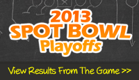 2013 Spot Bowl Playoffs - View super bowl ad rankings from the game!
